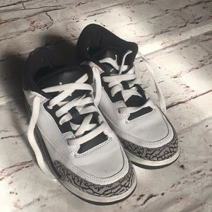 250219eb3bde32 Retro Air Jordan 3s  22 Centimeters  Size  3Y